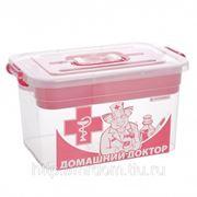 Контейнер для аптечки домашний доктор 10л с вкладышем 355х235х190 (789646) фото