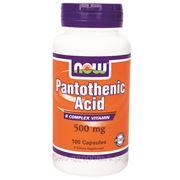 Витамин В5 (пантотеновая кислота). Антистрессовый витамин 100 кап. по 500 мг фото