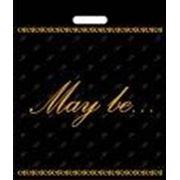 """Пакет """"May Be"""" черный с прорубной усиленной ручкой фото"""
