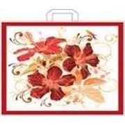 """Пакет """"Хризантемы"""" с петлевой ручкой фото"""