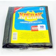 """Пакеты для мусора «Крепак"""" 240л. с ручками 10шт. фото"""