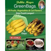 Пакеты для хранения продуктов Green Bags - Грин Бэгс (овощи и фрукты) 20шт/уп фото