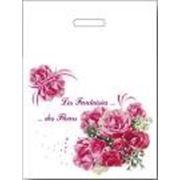 """Пакет """"Фантазия цветов"""" с прорубной усиленной ручкой фотография"""