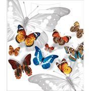 """Пакет """"Бабочки"""" с прорубной усиленной ручкой фото"""