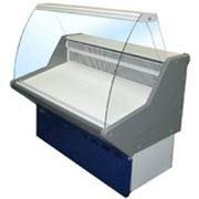 Витрина холодильная ВХН-1,5 Нова (с гнутым стеклом,нержавейка) фото