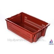 Ящик мясной / мясомолочный пластиковый с перфорацией ПЭКСИС фото