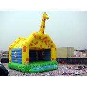 Надувной батутный комплекс «Жираф» фото