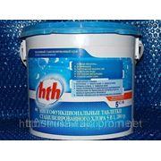 Многофункциональные таблетки стабилизированного хлора 5 в 1, ведро 5кг марки HTH фото