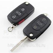 Выкидной ключ с чипом Audi фото