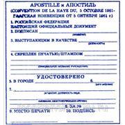Апостиль (легализация документа) фото