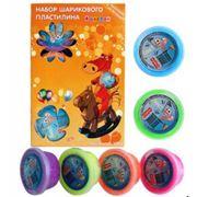 Набор шарикового пластилина 6 цветов фото