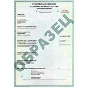 Сертификат соответствия ТР фото