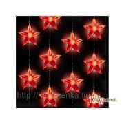Елочные игрушки Россия Led-э.г.-штора 48 красных звёздочек, с контроллером, 1.4х1.2 м.LED-171-R фото