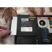 Чистка ноутбука от пыли + замена термопасты фото