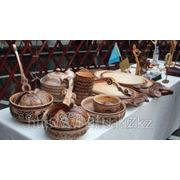 Изготовление посуды с казахским орнаментом из дерево