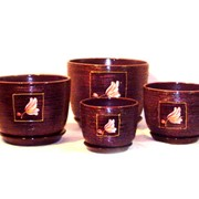 Керамические вазы для цветов Фантазия фото
