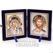 Складень, венчальная пара икон Артикул: СБО-0911син