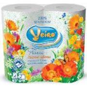 Туалетная бумага двухслойная ВЕЙРО Флория лесные цветы зеленая фото