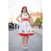 Нарядное платье с вышивкой, модель Леся фото