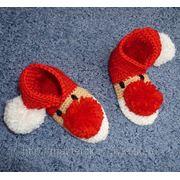 Вязаные рождественские носочки фото