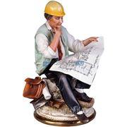 "Скульптура ""Инженер"", фарфор фото"