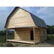 Сруб дачного дома (бани) 4*6+2м. открытая терраса+мансарда фото