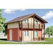 Дом по каркасной технологии площадью 72,4 кв.м.