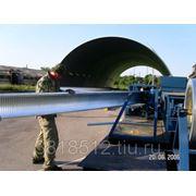 Строительство арочных бескаркасных ангаров. фото