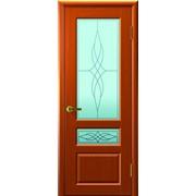 Дверь Валентия-2 Темный анегри остекление Светлое Изабелла фото