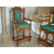 Барные деревянные стулья фото