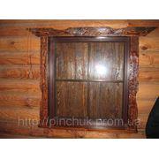 Облицовка деревянных окон под старину фото