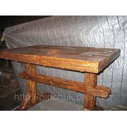 Стол под старину 120х80 с перемычкой. фото