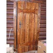 Двери под старину простые в баню. фото