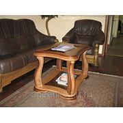 Стол из массива дуба со стеклом