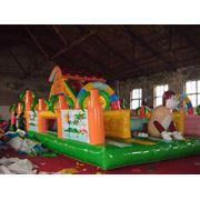 Батут надувной Джунгли 90м2 PVC 0.8mm фото