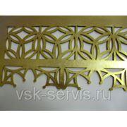 Лазерная резка латуни цена за 1 м. п. 0,5 мм фото