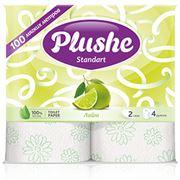 Туалетная бумага PLUSHE Standart лайм фото