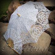 Кружевной зонт и веер фото