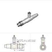 Кран шаровой стальной в оцинкованной трубе-оболочке с металлической заглушкой изоляции и торцевым кабелем вывода d=57 мм, s=3 мм, L=1800 мм фото