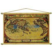 Карта мира 17-18 век (музейная копия) фото