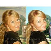 Портрет девушки, сходство,Картина маслом на холсте фото