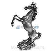 """Скульптура """"Конь на дыбах"""", серебро матовое фото"""