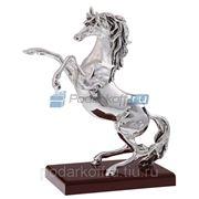 """Скульптура """"Конь на дыбах"""", серебро фото"""