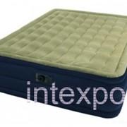 Двуспальная надувная кровать Plush Bed INTEX 67710 фото
