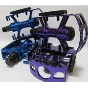 Педали синие/фиолетовые алюминий BK-104 фото