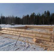 Сруб деревянный фото