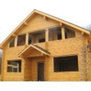 Строительство домов из профилированного бруса фото