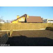 Забор дачный из лозы и орешника ц фото