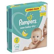Pampers Подгузники New Baby-Dry Mini 2 (4-8 кг) 94 шт. фото