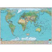 """Карта """"Мир XXI век. Географические пояса"""" фото"""